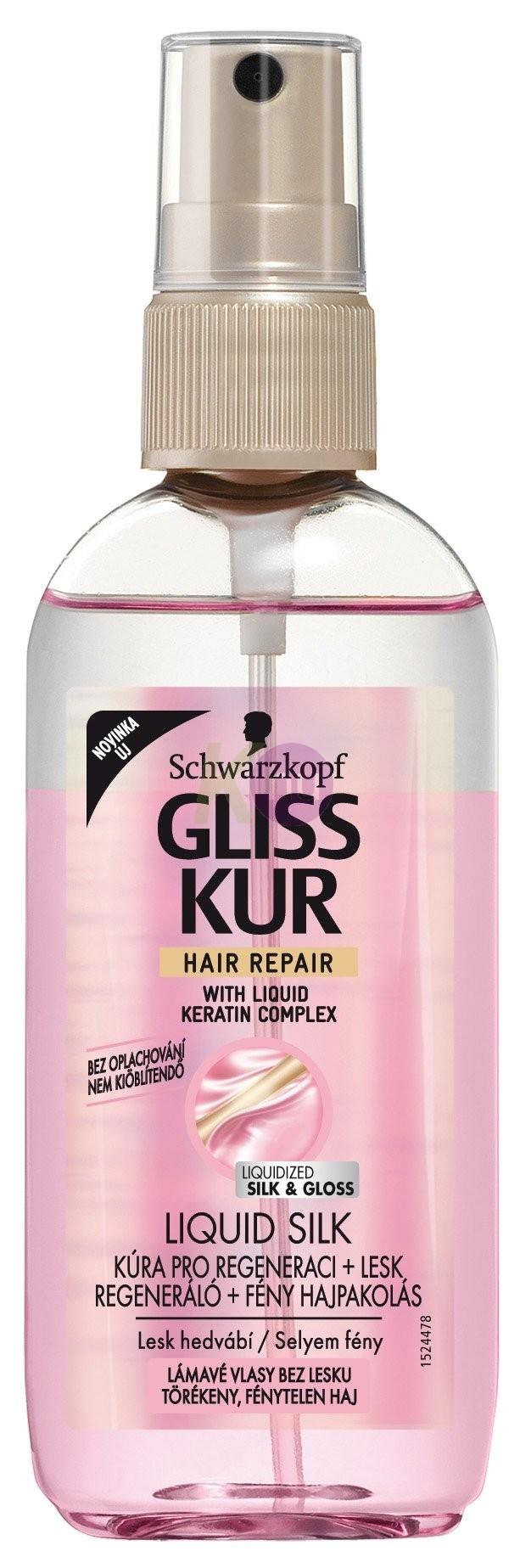 Gliss Kur kétfázisú ápoló spray 100ml folyékony selyem 12031286
