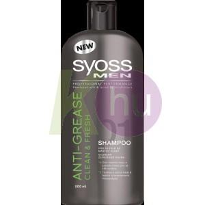 Syoss sampon 500ml Men Clean&Fresh 13100788