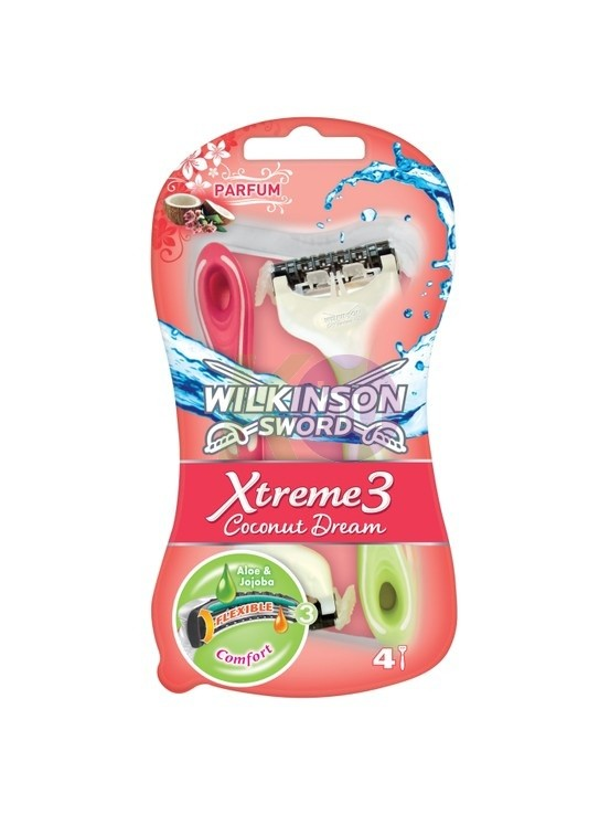 Wilkinson Wilk. Extreme 3 B.Coconut 3+1 eldobható borotva 15761004