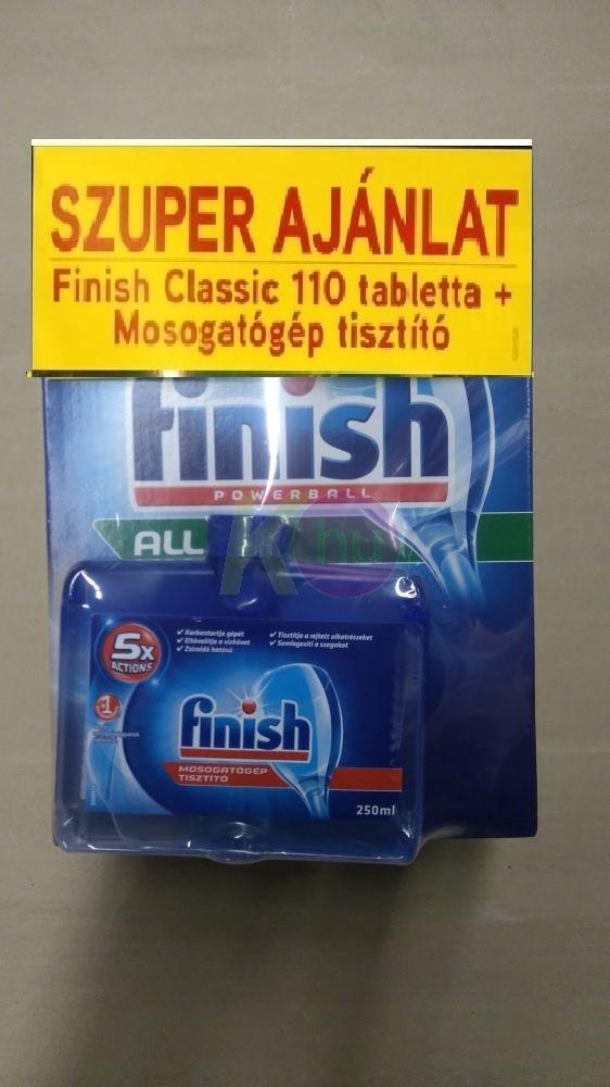 Finish tabl. 110db PowerBall + Finish mosogatógép tisztító 250ml Regular 24962450