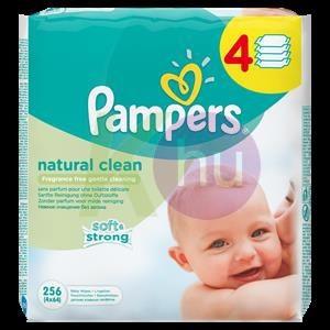 Pampers törlőkendő Naturally Clean 4*64-es 31001552
