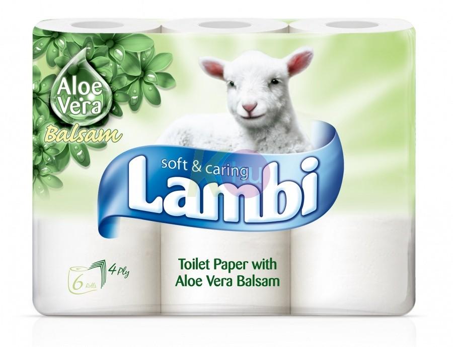 Lambi 4 rétegű toalettpapír 6 tek. Aloe 32100704