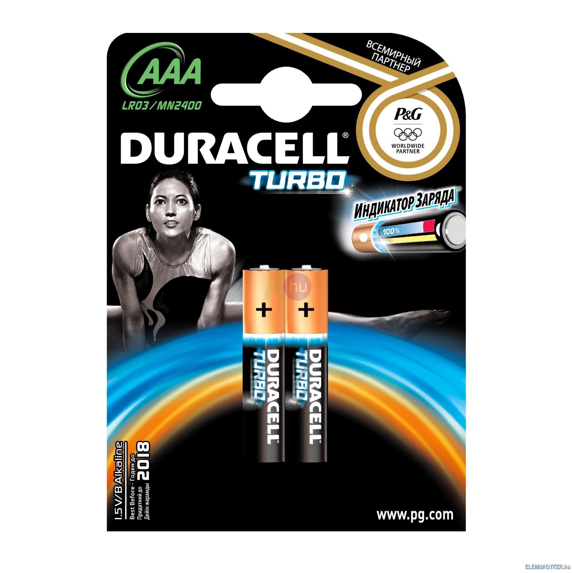 Duracell Turbo elem MN2400/AAA 2db-os 51000321