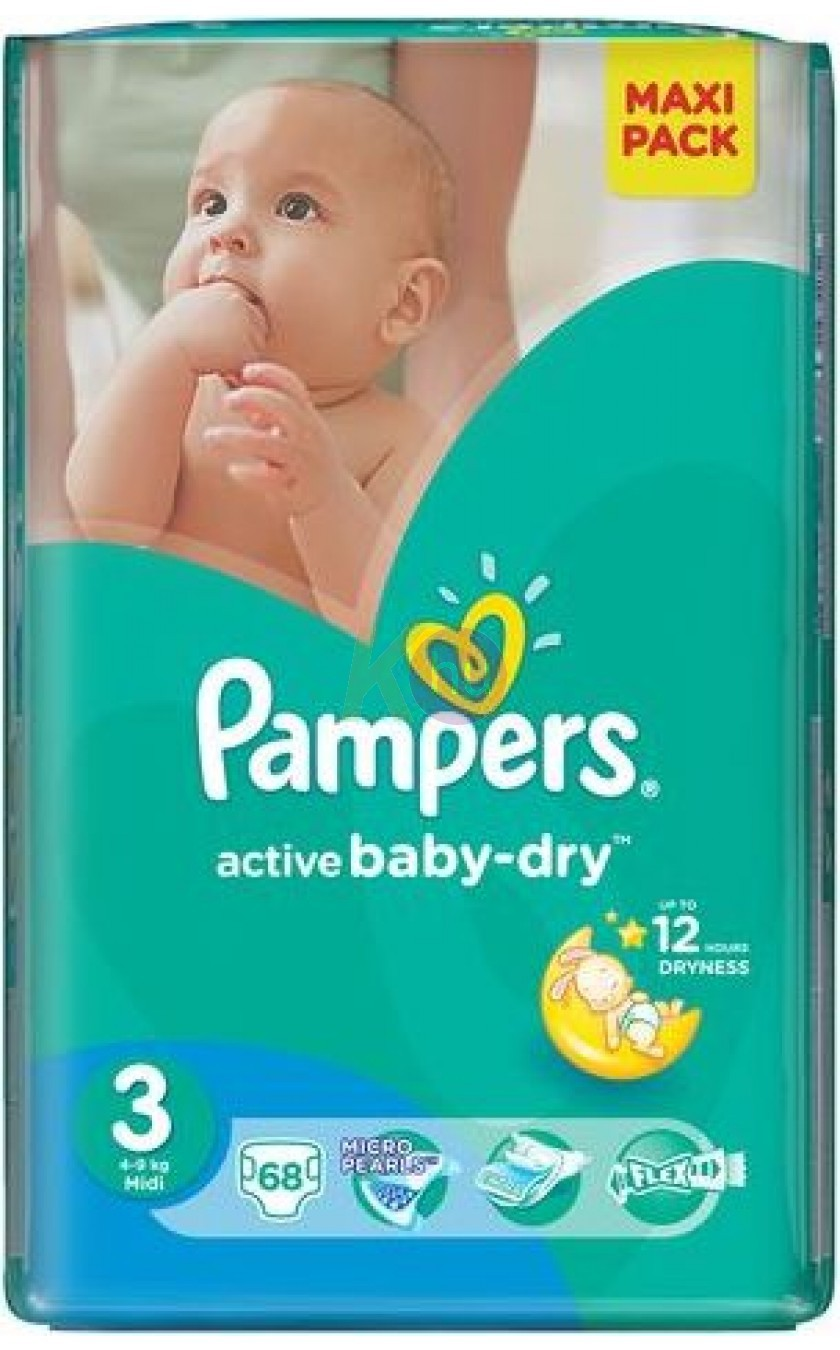 Pampers Maxi Pack S3 68 Active Baby Midi 52141464