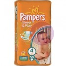 Pampers sleep&play maxi 50    (4)    7-18kg 31001536
