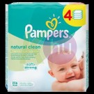 Pampers törlőkendő Naturally Clean 4*64-es 31001552