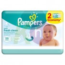 Pampers törlőkendő naturally clean 2*64-es 31098702