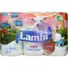 Lambi 3 rétegű toalettpapír 6 tek. Kids 32100703